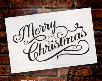 Merry Christmas - Elegant Vintage - Select Size - STCL602 - by StudioR12