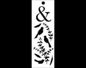 "Twitterpaiting Bookmark Art Stencil - 6"" x 2"" - STCL902 by StudioR12"
