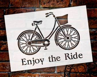 Enjoy the Ride - Word Art Stencil - Select Size - STCL1176 - by StudioR12