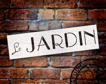 Le Jardin (The Garden) - Word Stencil - Select Size - STCL1303 - by StudioR12