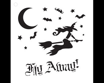 Fly Away - Art Stencil - Select Size - STCL1116 - by StudioR12