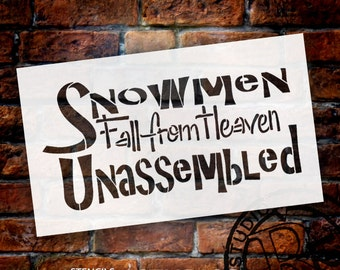 Snowmen Fall From Heaven - Word Stencil - Select Size - STCL964 - by StudioR12