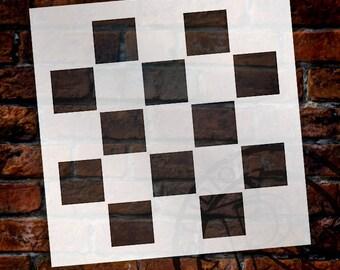 """1"""" Checks - Pattern Stencil - 6"""" x 6"""" - SKU:STCL713"""