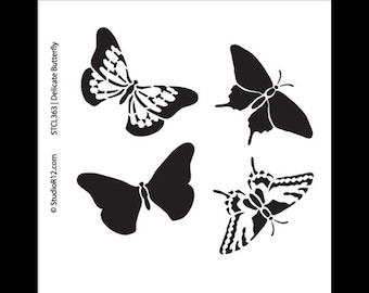 "Delicate Butterfly Stencil- 6""x6""- STCL363 by StudioR12"