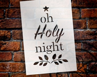 O Holy Night - Word Stencil - Select Size - STCL1527 - by StudioR12