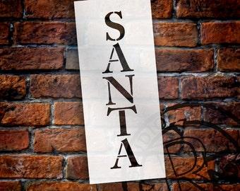 """Word Stencil - Santa - 5"""" X 12"""" - STCL233- by StudioR12"""