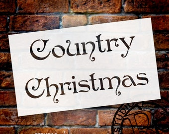 Country Christmas Word Stencil by StudioR12 - Select Size - STCL529 by StudioR12