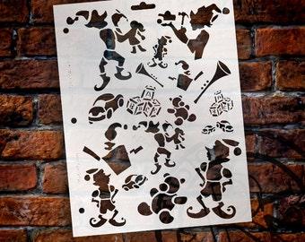 "Elf Work Shop Stencil - 8 1/2"" x 11"" - SKU:STCL128"