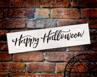 Happy Halloween Hand Brushed Script - Select Size - STCL1499 - by StudioR12
