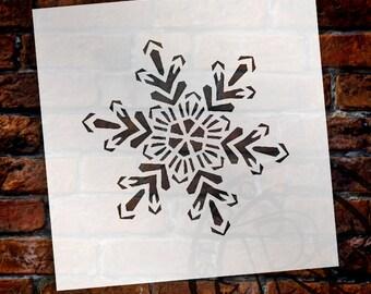 Snowflake Stencil by StudioR12 - Christmas, Holiday, Santa, Painting, Art, Window, Mixed Media, Air Brush, Chalk - Select Size - STCL1569