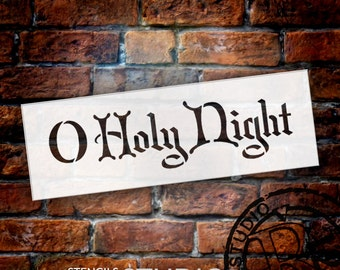 Holy Night Christmas Stencil - Select Size - STCL1470 - by StudioR12