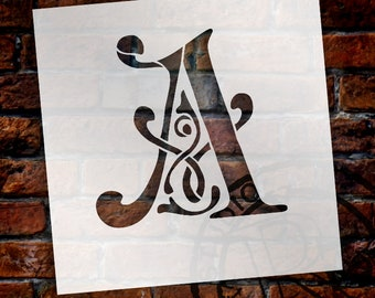 Ornate Monogram Stencil- Select Size and Letter -STCL251-276