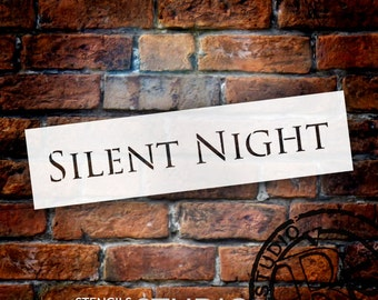Silent Night - Classic - Word Art Stencil - Select Size - STCL1393 - by StudioR12