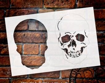 "Layered Skull - Art Stencil - 6 3/4"" Skull - STCL1160 - by StudioR12"