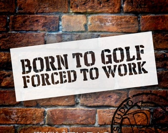 Born To Golf - Word Stencil - Select Size - STCL1319 - by StudioR12