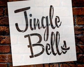 Jingle Bells - Chunky Script - Word Stencil - Select Size - STCL1366 - by StudioR12