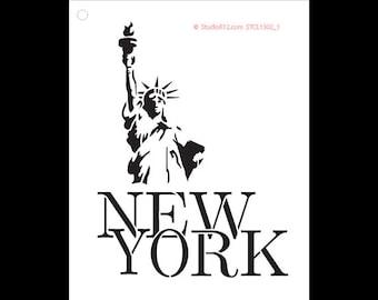 New York Lady Liberty - Art Stencil - Select Size - STCL1302 - by StudioR12