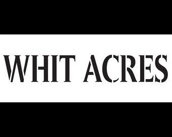 Custom - Whit Acres - for the Fabulous Julie
