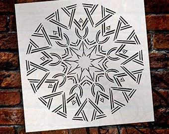 Mandala - Deco - Complete Stencil by StudioR12 | Reusable Mylar Template | Use to Paint Wood Signs - Pallets - Pillows - Wall Art - Floor...