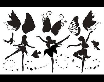 "Fairy Dance Art Stencil - 11"" x 17"" - STCL881_1 - by StudioR12"