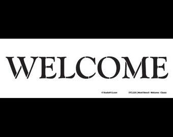"""Word Stencil - Welcome - Classic - 16"""" x 4"""" - STCL220 - by StudioR12"""