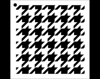 Houndstooth Pattern Stencil - Select Size - STCL1026 by StudioR12