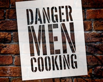Danger Men Cooking - Word Stencil - Select Size - STCL1320 - by StudioR12