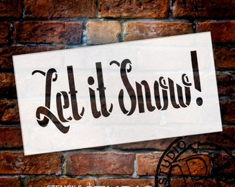 Let It Snow - Whimsical Word Stencil - Select Size - STCL1380 by StudioR12