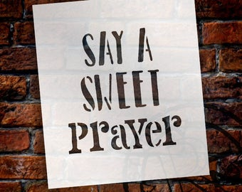 Sweet Prayer - Word Stencil - Select Size - STCL1849 - by StudioR12