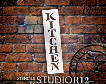 Kitchen - Farmhouse Serif - Vertical - Word Stencil - Select Size - STCL1952 - by StudioR12