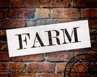 Farm - Skinny Serif - Word Stencil - Select Size - STCL2060 - by StudioR12