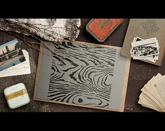 Old Wood Grain Pattern Stencil - Select Size -STCL1018 - by StudioR12