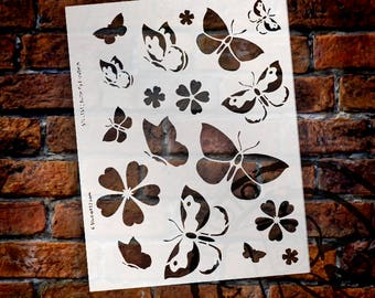 Butterfly Elizabeth Stencil - Select Size - STCL151 - by StudioR12