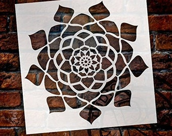 Mandala - Hypnotic - Complete Stencil by StudioR12 | Reusable Mylar Template | Use to Paint Wood Signs - Pallets - Pillows - Wall Art -...