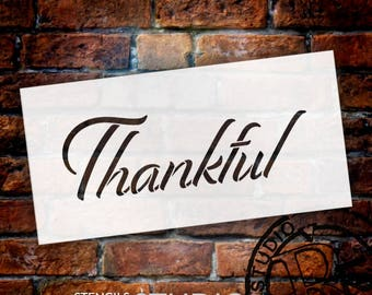 Thankful - Festive - Word Stencil - Select Size - STCL2102 - by StudioR12