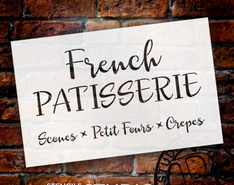 French Patisserie - Word Stencil - Select Size - STCL1477 - by StudioR12