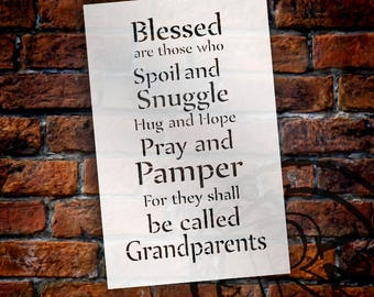 Blessed Are Those - Grandparents - Word Stencil - Select Size - STCL2082 - by StudioR12