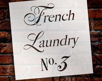 French Laundry Word Stencil - Select Size - STCL1419 - by StudioR12