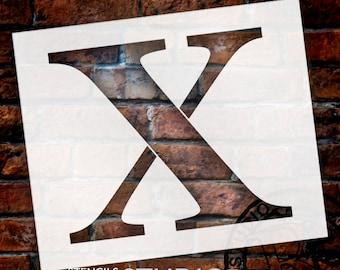 X -Monogram Letter Stencil - Select Size - STCL1737 - by StudioR12