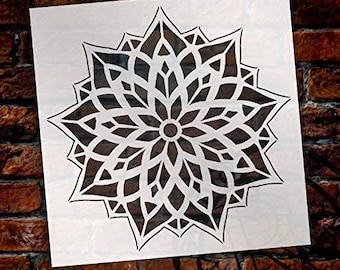 Mandala - Glass - Complete Stencil by StudioR12 | Reusable Mylar Template | Use to Paint Wood Signs - Pallets - Pillows - Wall Art -...