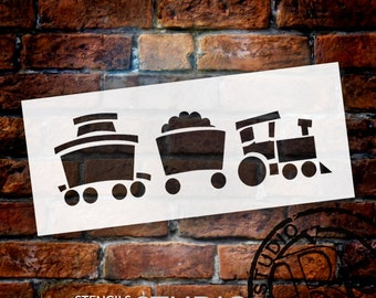 Toy Train - Art Stencil - Select Size- STCL1266 by StudioR12