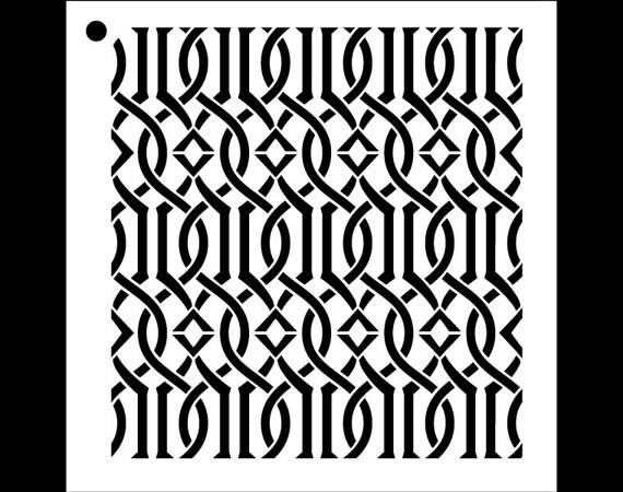 Trellis Pattern Stencil Select Size STCL40 By StudioR40 Etsy Awesome Trellis Pattern