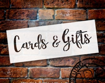 Wedding Sign Word - Cards & Gifts - Rustic Script - Select Size- STCL1614 - by StudioR12