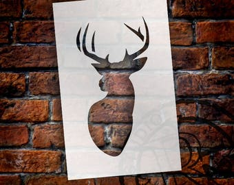 Little Buck - Art Stencil - Select Size - STCL1286 by StudioR12