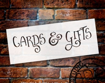 Wedding Sign Stencil - Cards & Gifts - Fancy Funky - Select Size- STCL1636 - by StudioR12