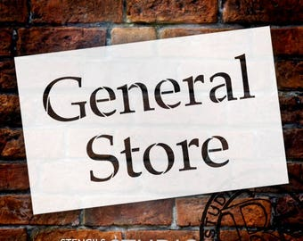 General Store - Serif - Word Stencil - Select Size - STCL2069 - by StudioR12