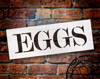 Eggs - Skinny Serif - Word Stencil - Select Size - STCL2063 - by StudioR12
