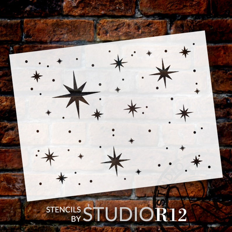 Twinkle Stars Stencil by StudioR12  Art for kids  Nursery image 1