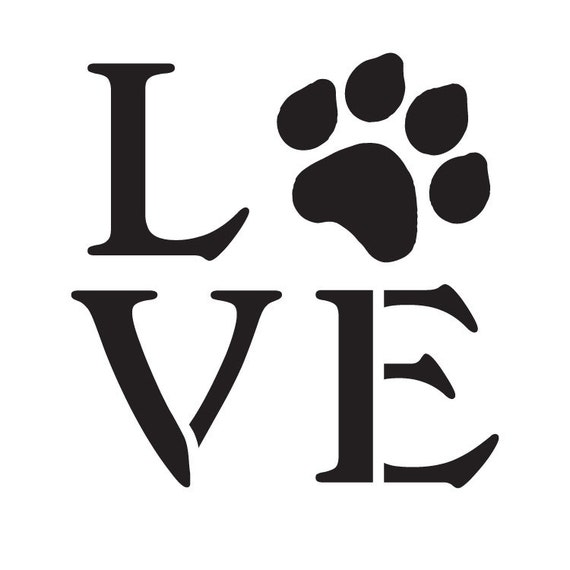 Love with Dog Paw Print Stencil - by StudioR12 - Dog Lover Gift - Pet  Stencil - Paint a Wood Sign- DIY Painting- Crafting - SELECT SIZE