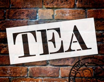 Tea - Skinny Serif - Word Stencil - Select Size - STCL2064 - by StudioR12
